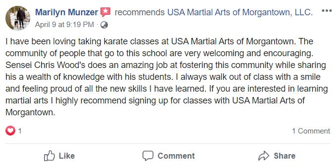 Adult 1, USA Martial Arts of Morgantown