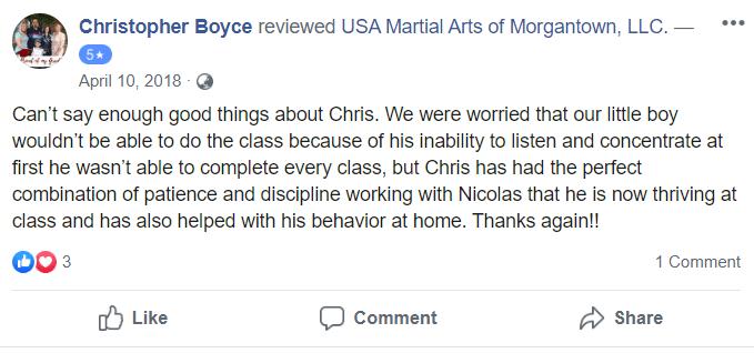 Kids 1, USA Martial Arts of Morgantown